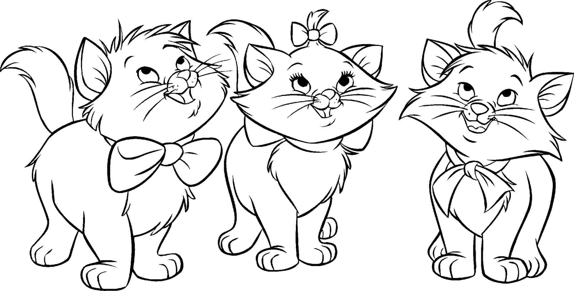 This is a graphic of Exhilarating aristocats coloring page