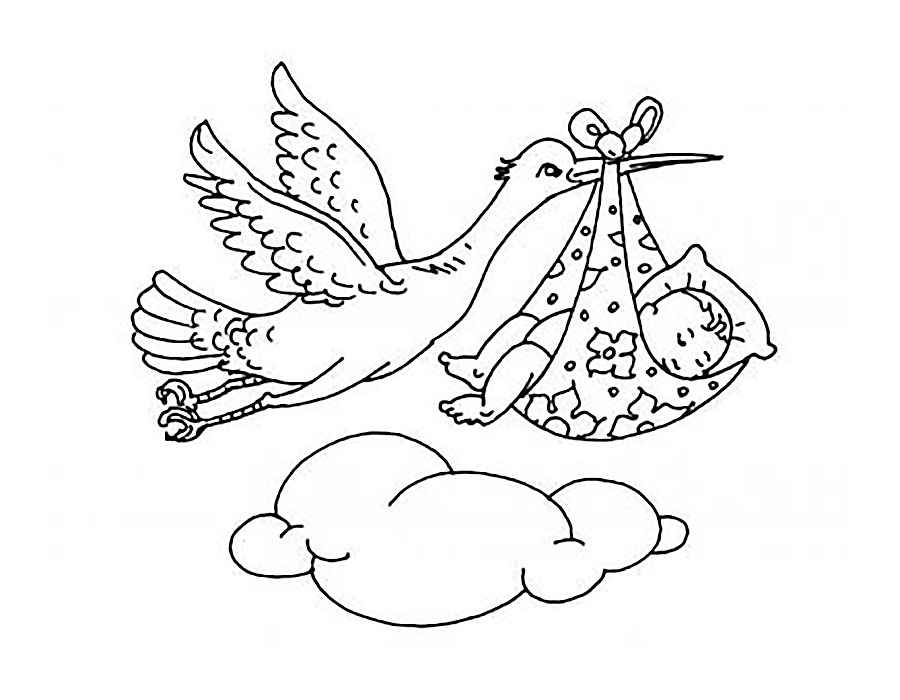 Stork Coloring Pages To Download And Print For Free