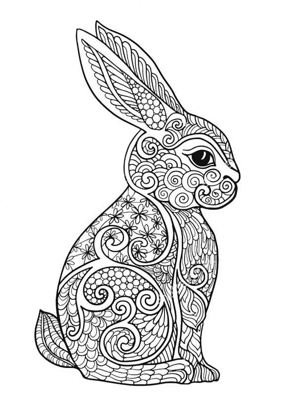 Anti stress coloring pages for