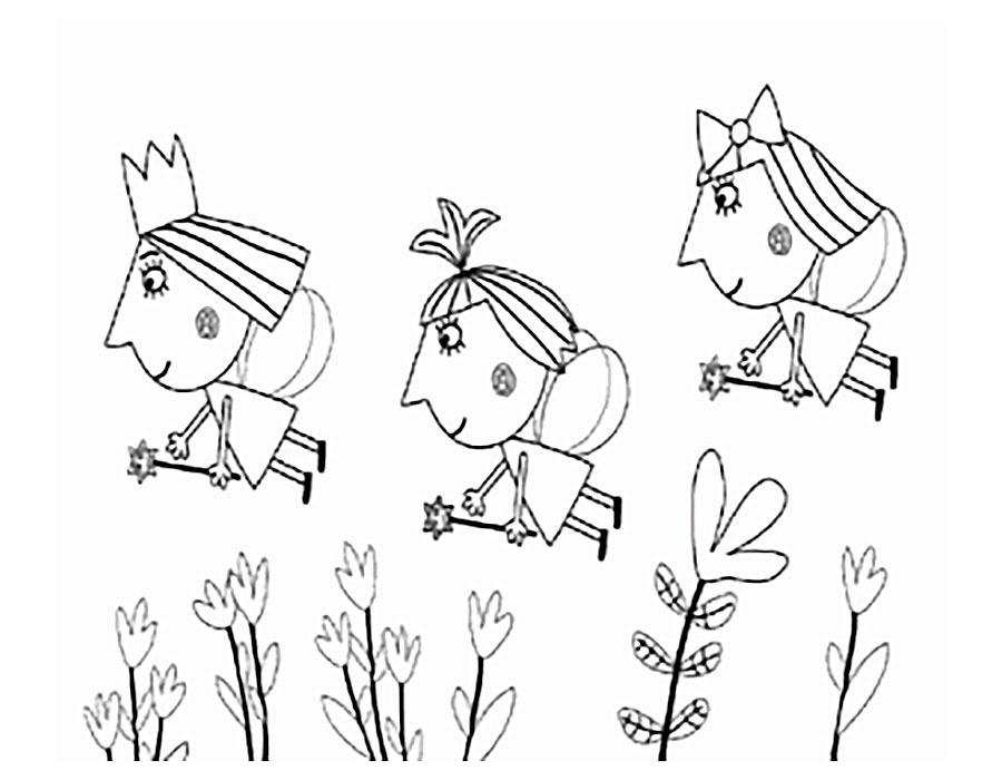 ben and holly colouring pdf