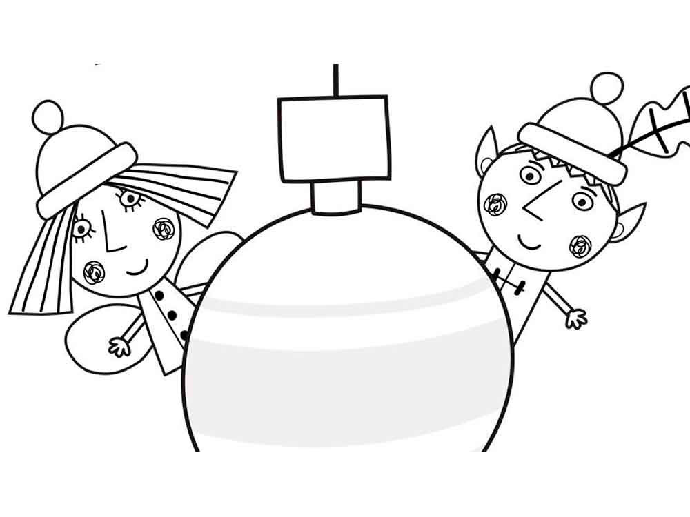 Little kingdom Ben and Hollys coloring pages to download and print