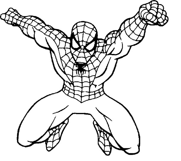 Free Coloring Pages Of Spiderman Drawing