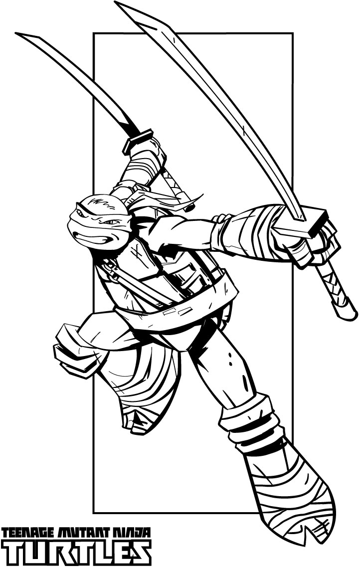 Ninja turtles coloring pages from animated cartoons of for Coloring pages of ninjas