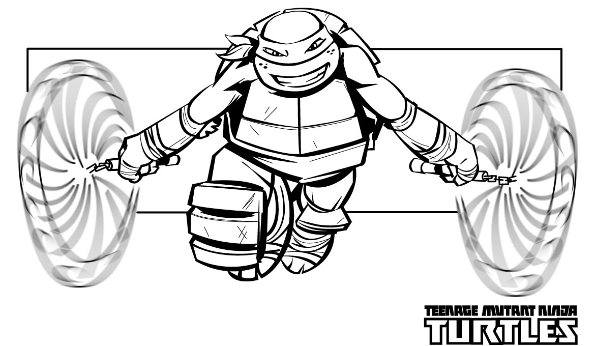 Ninja turtles coloring pages from animated cartoons of ...