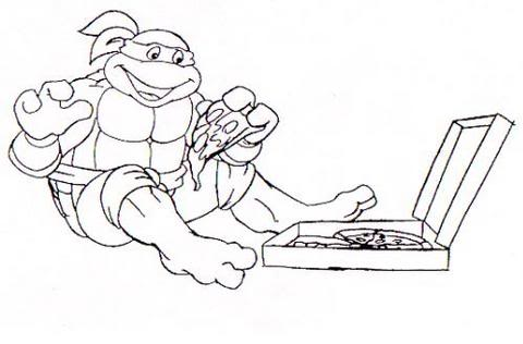 Ninja turtles coloring pages from animated cartoons of 2014 2015