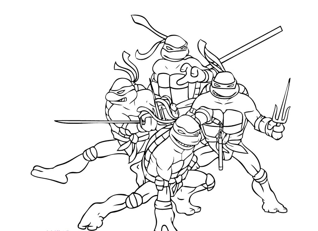 Ninja turtles coloring pages from
