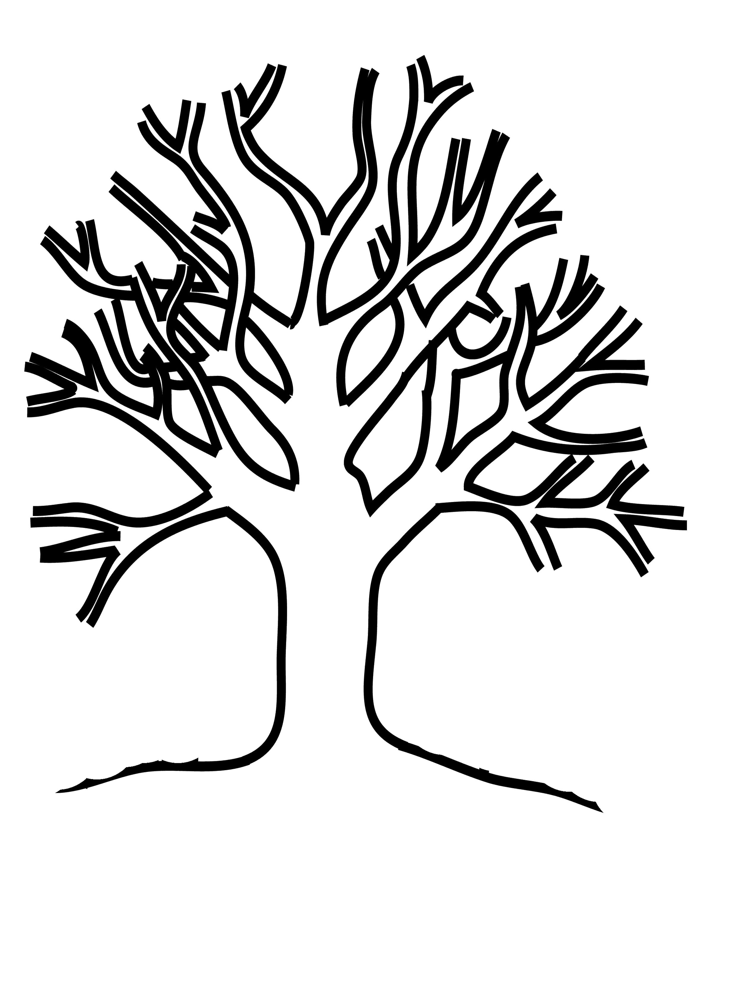 Tree Without Leaves Coloring Pages
