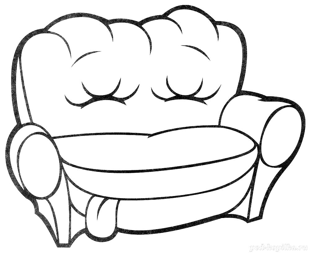 Malvorlagen Tv: Sofa Coloring Pages To Download And Print For Free