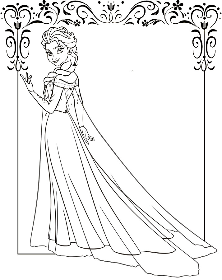 Elsa Coloring Pages To Download And Print For Free