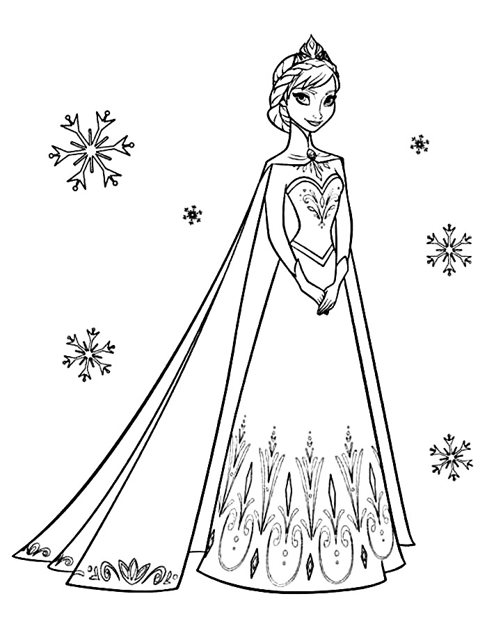Elsa coloring pages to download
