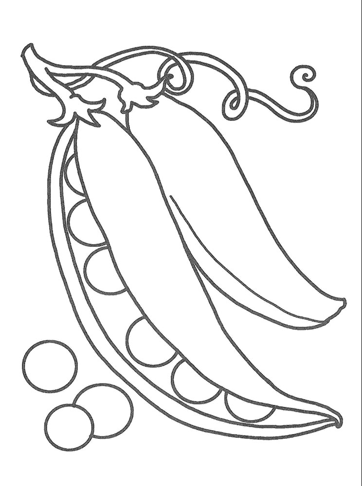 Pea coloring pages to download