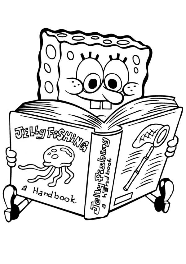Coloring pages from Spongebob Squarepants animated cartoons