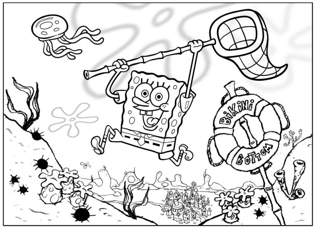Coloring pages from Spongebob Squarepants