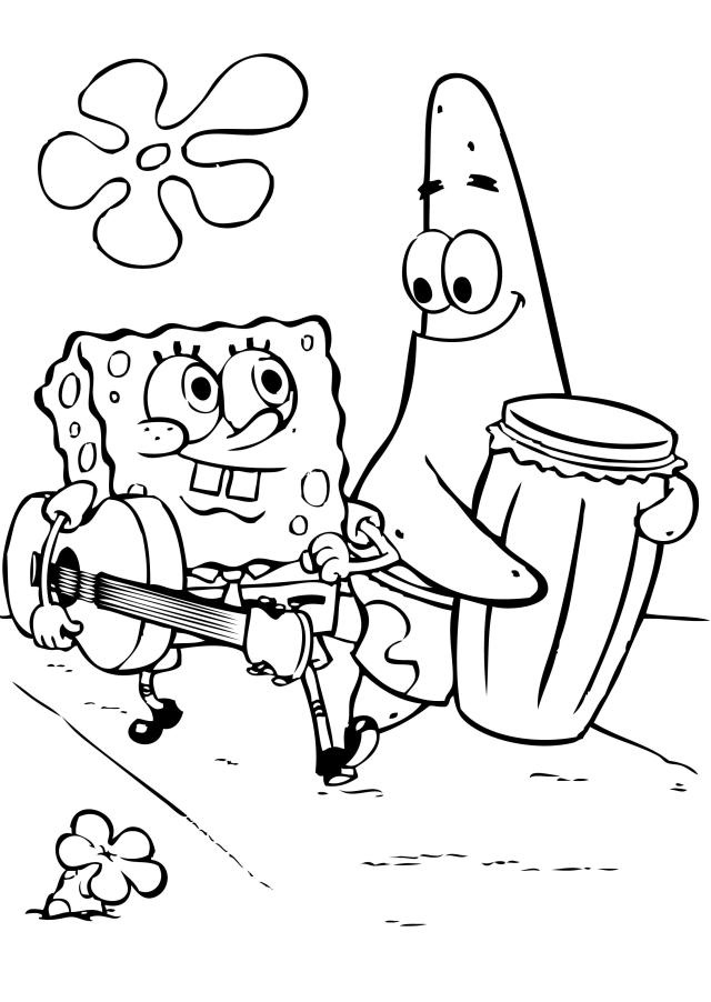 coloring pages spongebob - photo#19