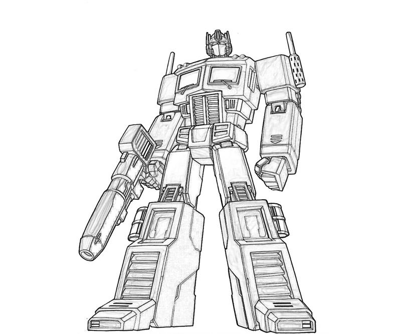 Robots and transformers coloring pages for kids. Just ...
