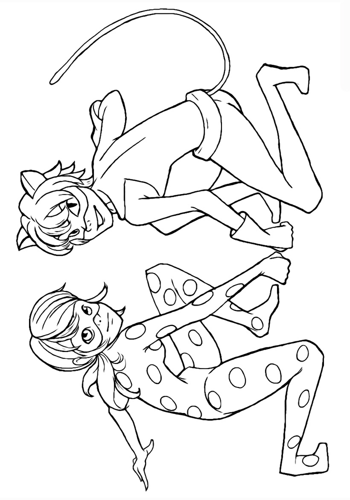 Ladybug and cat noir coloring pages to download and print for Coloring pages of ladybugs