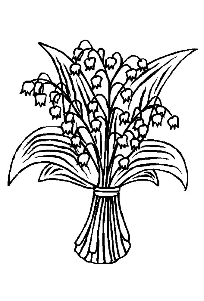 Lily Of The Valley Coloring Pages To Download And Print