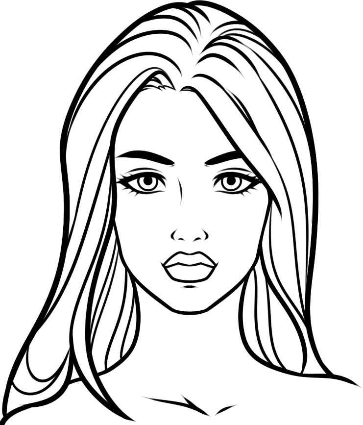 Coloring Pages For Girls: Ladies Coloring Pages To Download And Print For Free