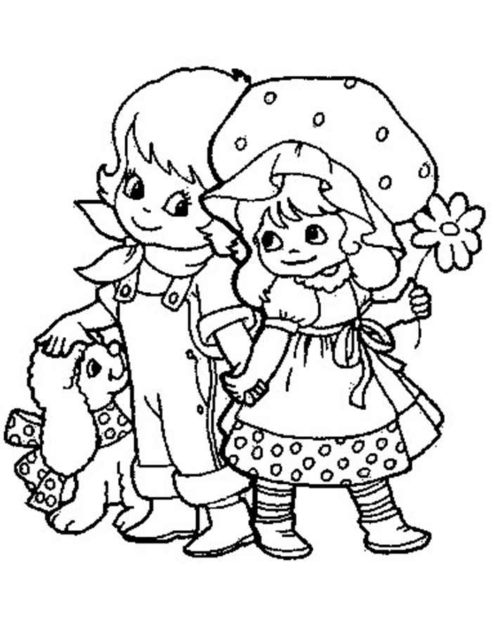 Boy girl coloring pages ~ Girl and boy coloring pages to download and print for free