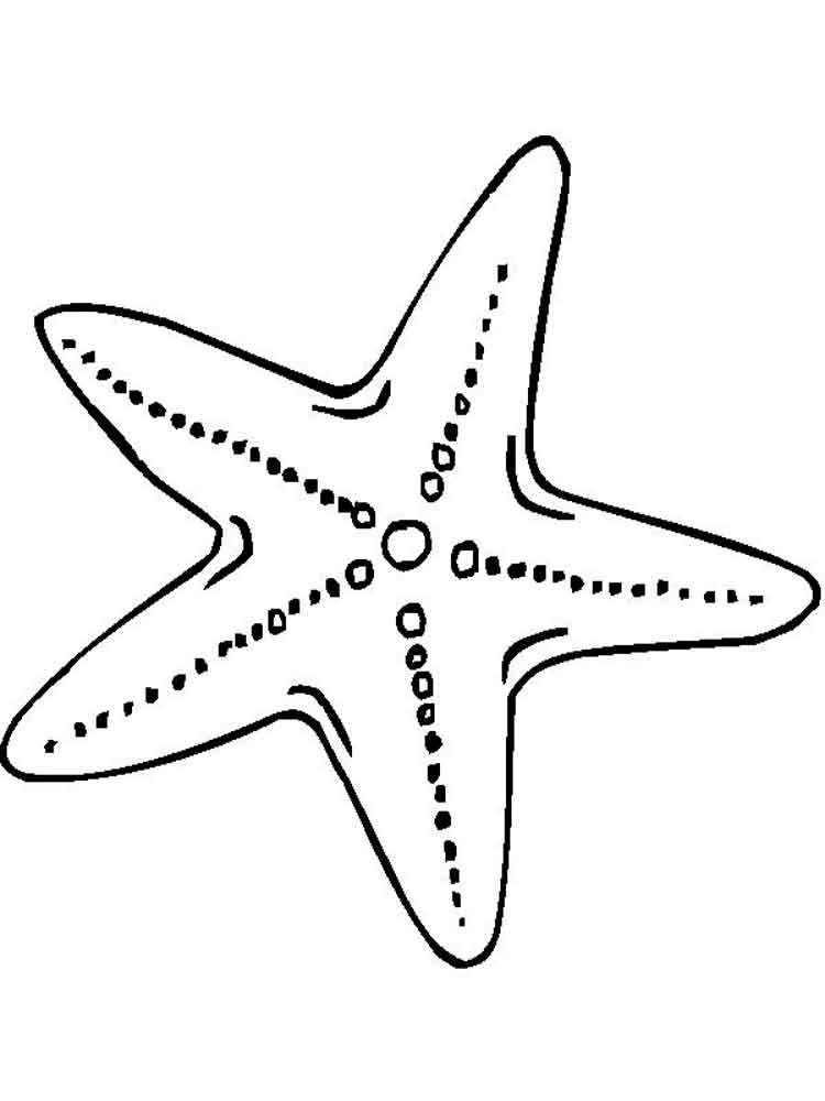 starfish coloring pages preschool numbers - photo#10
