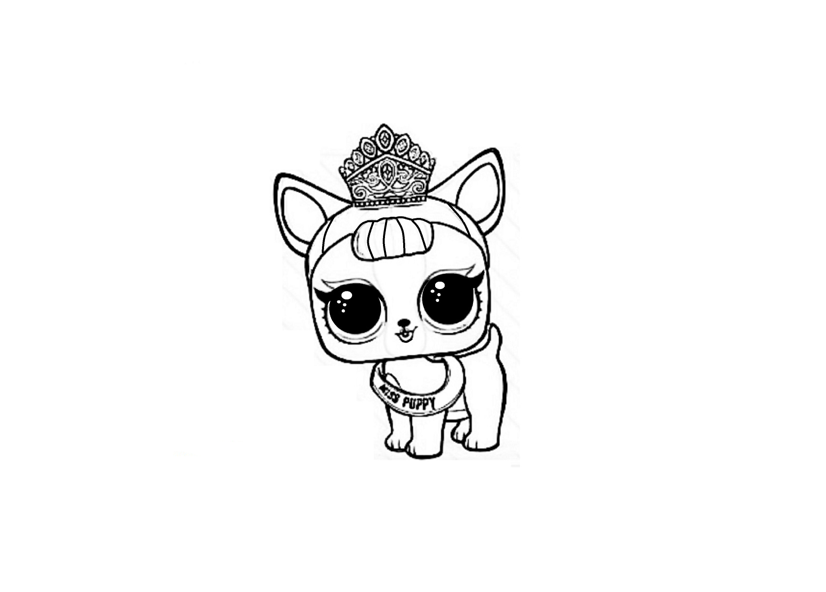 LOL Surprise Pets coloring pages to download and print for