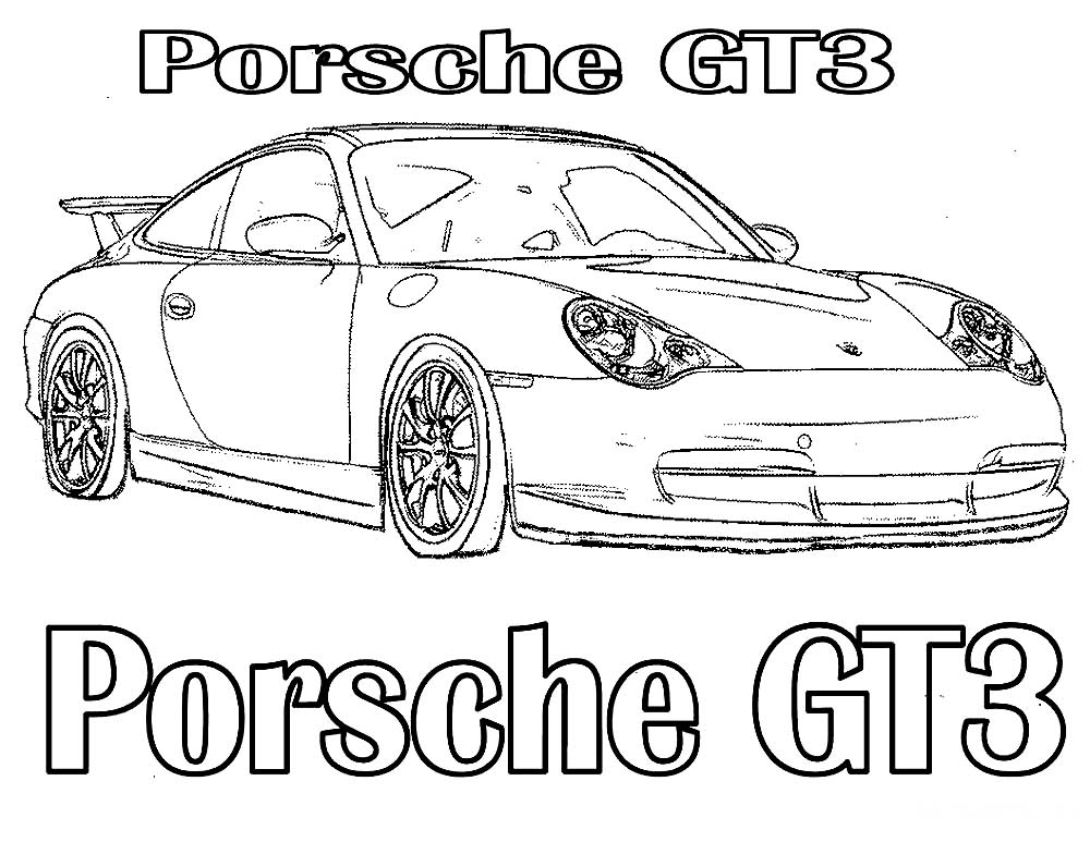 porsche coloring pages to download and print for free