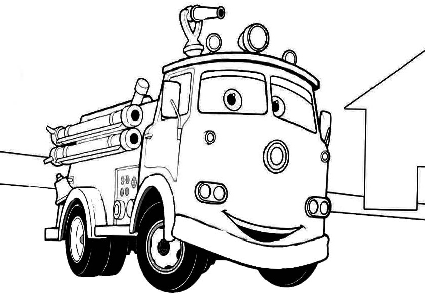 Fire engine coloring pages to download