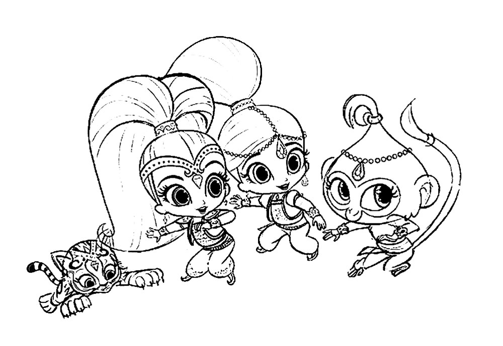 Shimmer and Shine coloring pages to download and print for ...