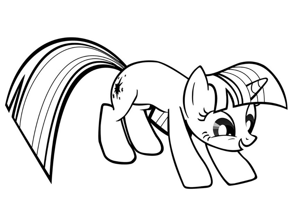 Twilight Sparkle Coloring Pages To Download And Print For Free