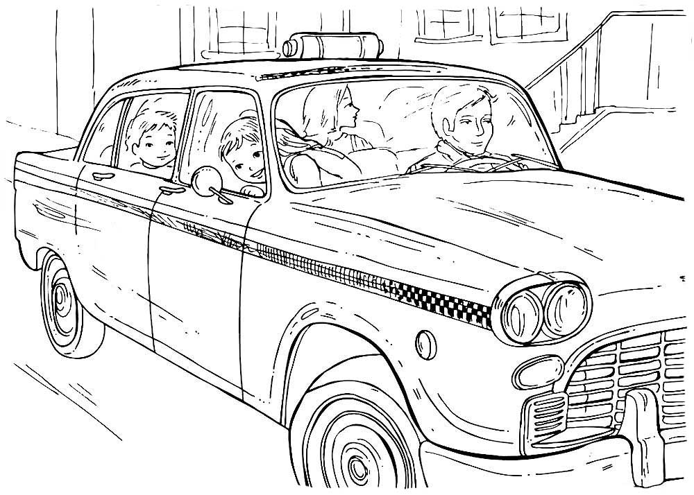 taxi coloring pages to download and print for free