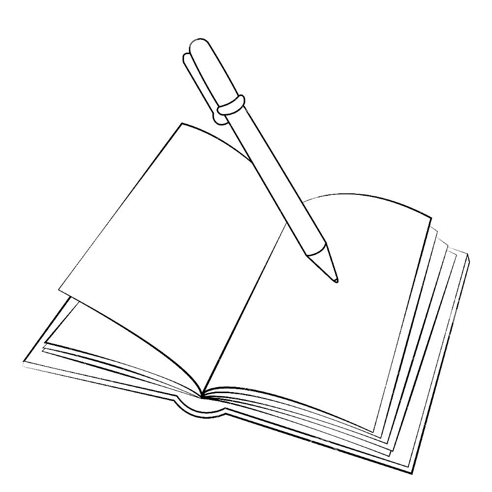 the notebook coloring pages - photo#10