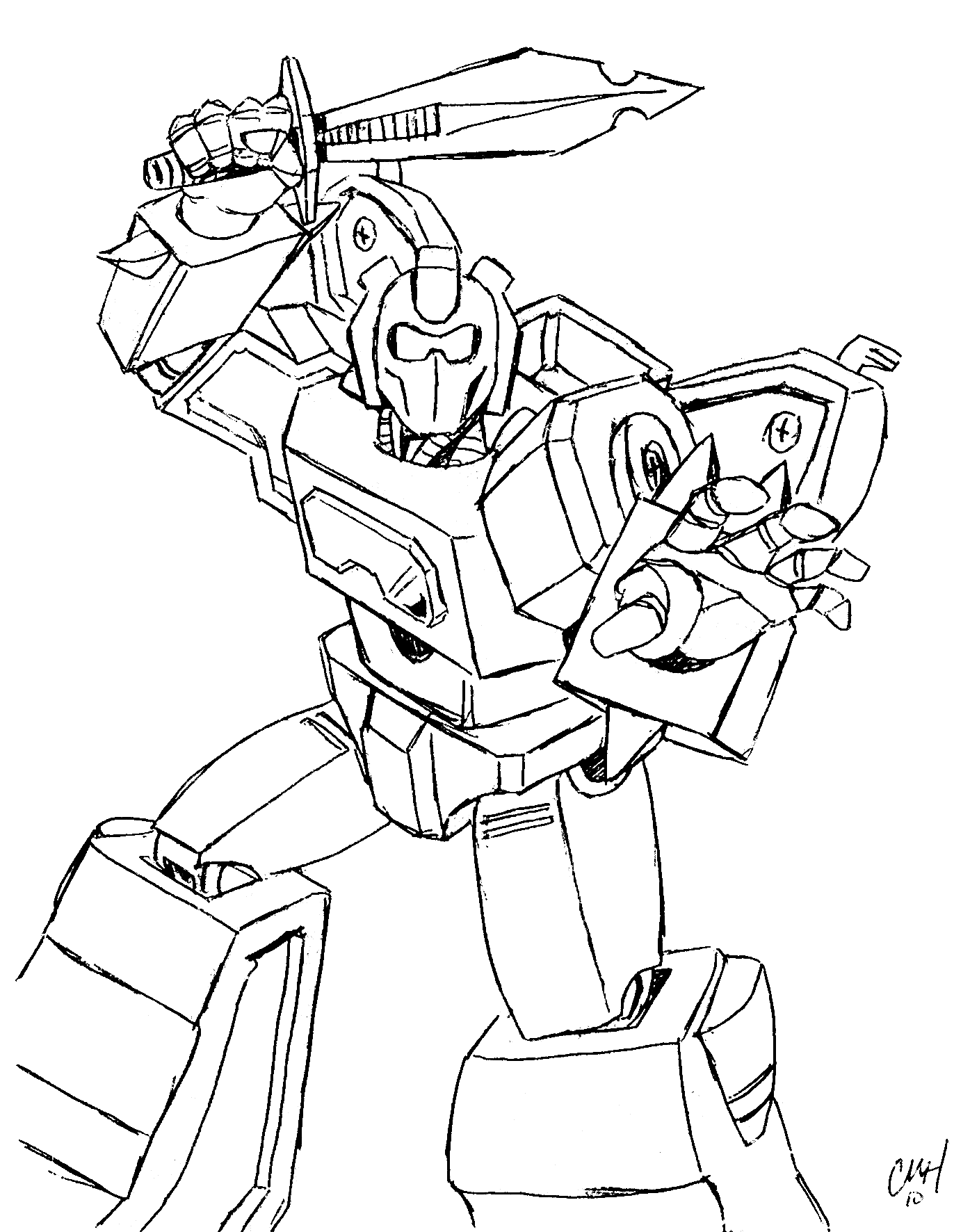 Robots And Transformers Coloring Pages