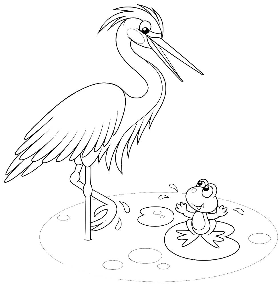 Heron coloring pages to download