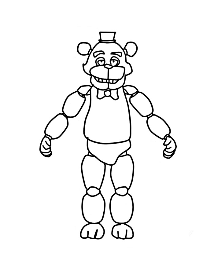 Five Nights At Freddys Coloring Pages To Download And Print For Free