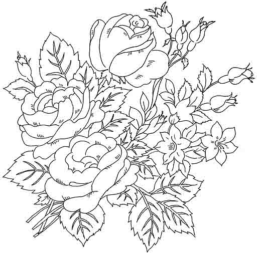 Peony coloring pages to download