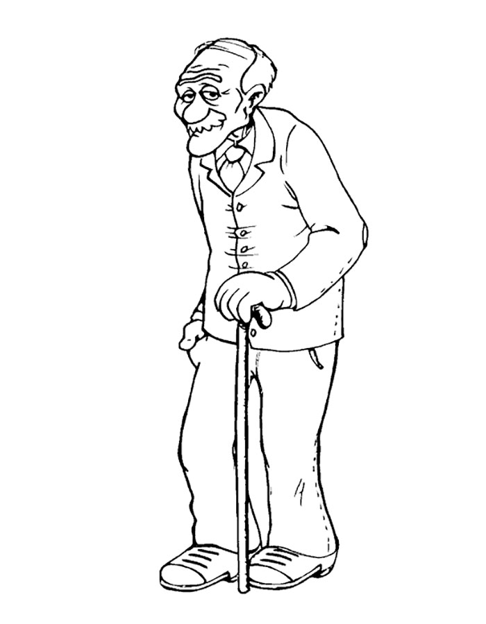 character sketch of grandfather