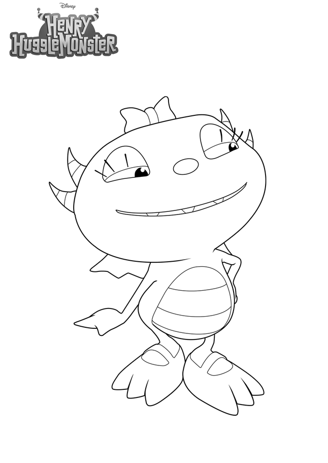 Henry Hugglemonster Coloring Pages To Download And Print