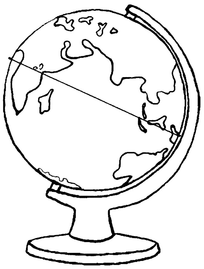 globe printable coloring pages - photo#12