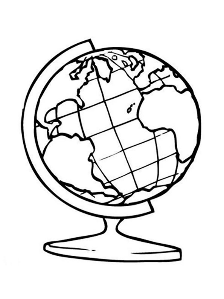 Globe coloring pages to download and print for free