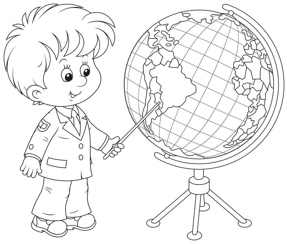 Clip Art Globe Coloring Pages globe coloring pages to download and print for free girl boy pages