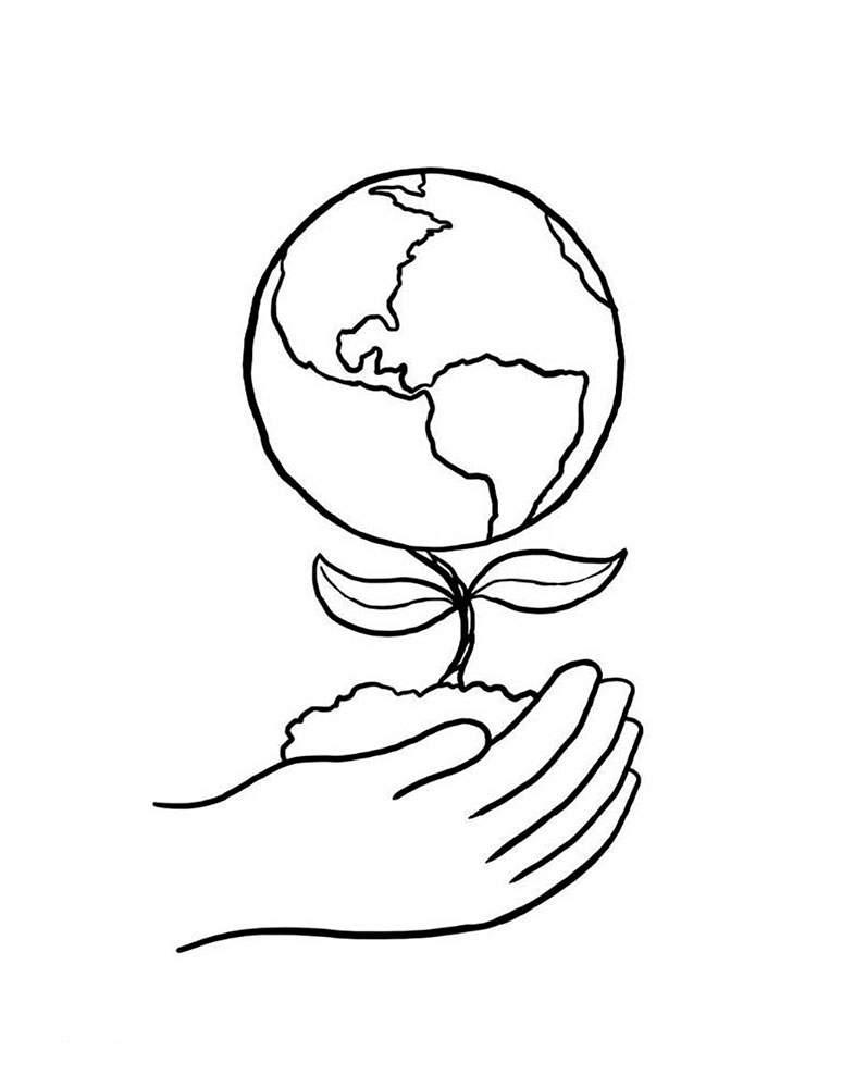 coloring pages globe - photo#15