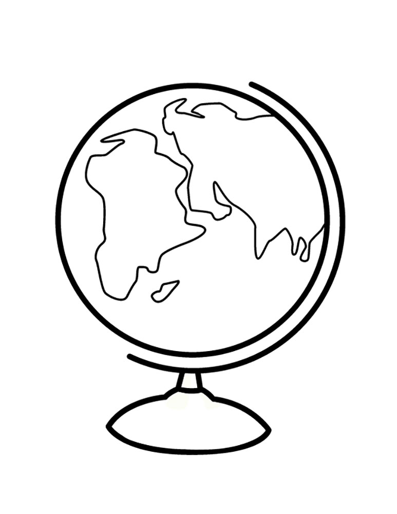 globe coloring page printable - globe coloring pages to download and print for free