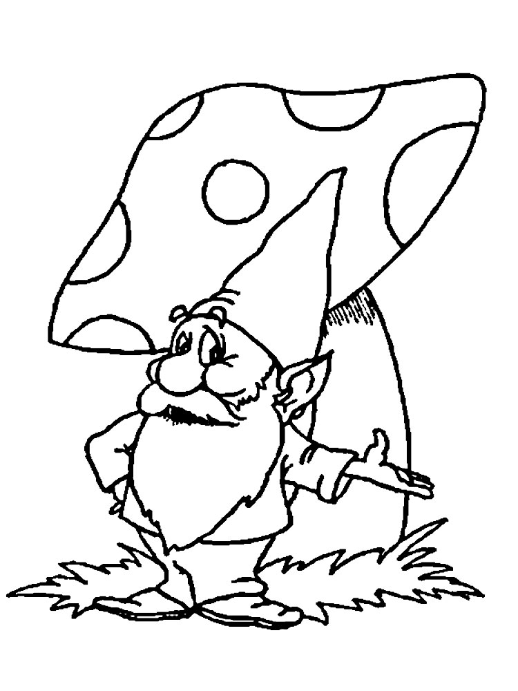 Gnome coloring pages to download