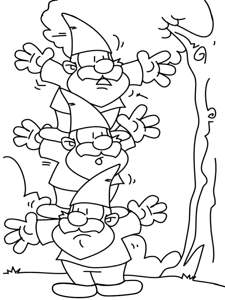 Gnome Coloring Pages To Download And Print For Free