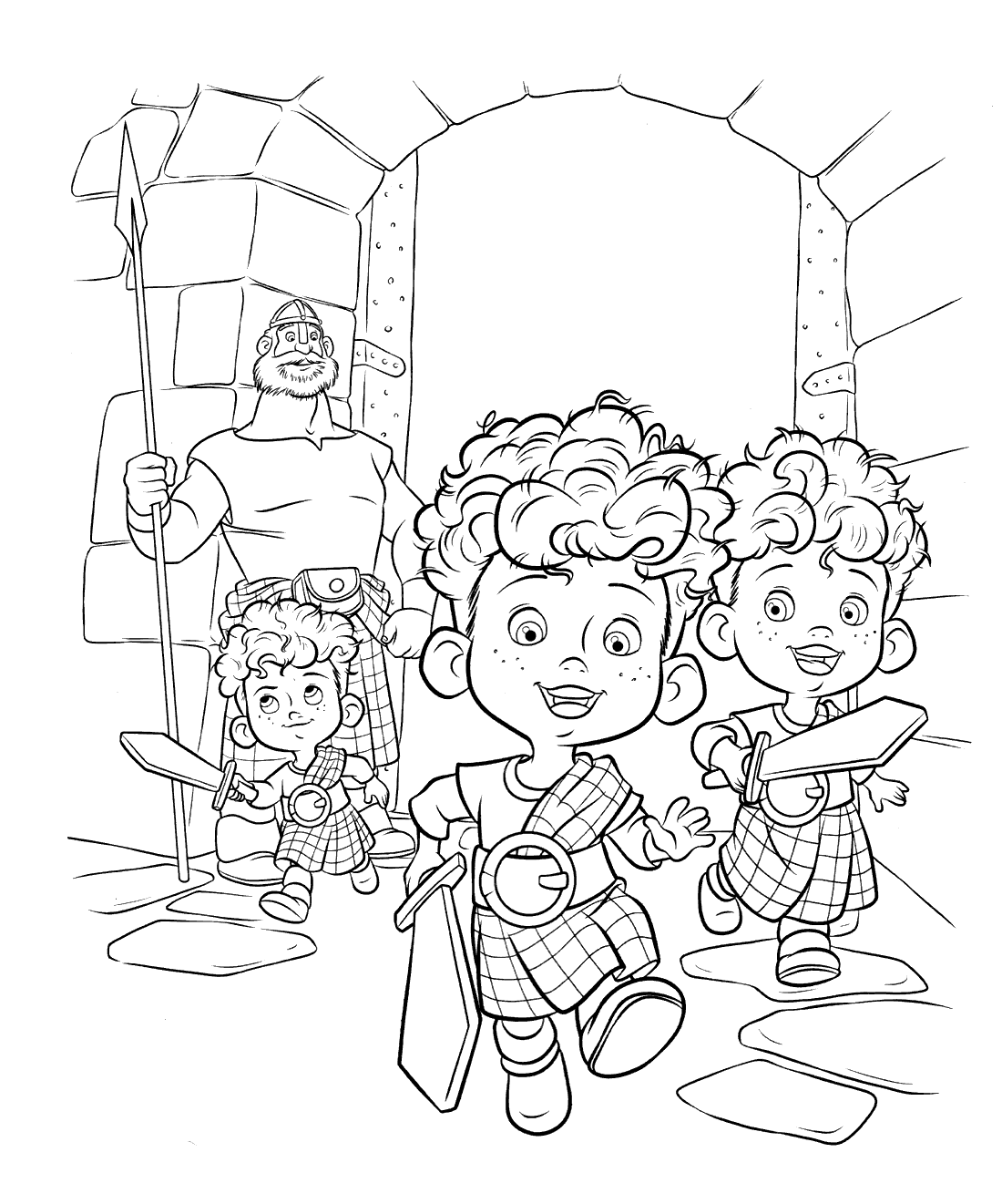 Brave coloring pages to download and print for free
