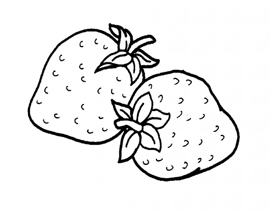 Strawberry coloring pages to download