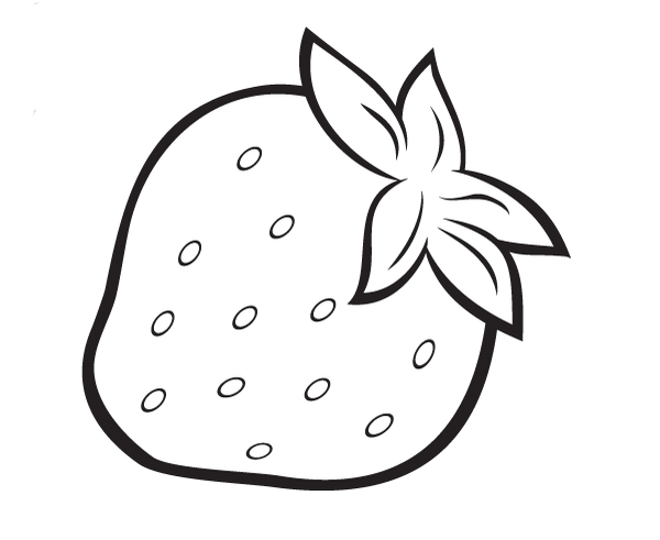 strawberry coloring pages for kids - photo#20