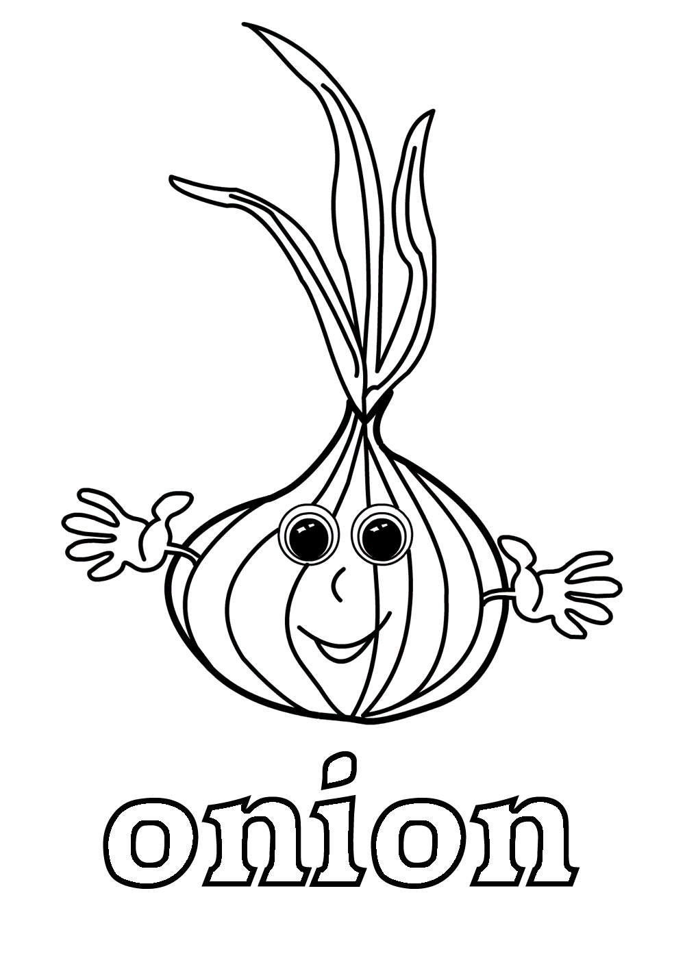 onion coloring pages to download and print for free