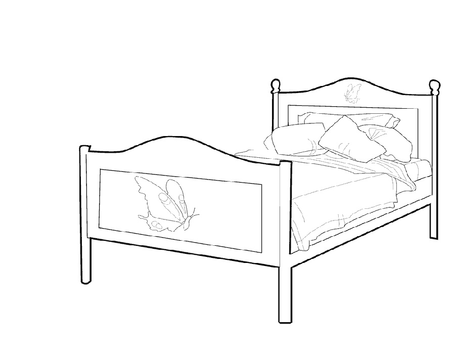 big bed pics coloring pages - photo#19