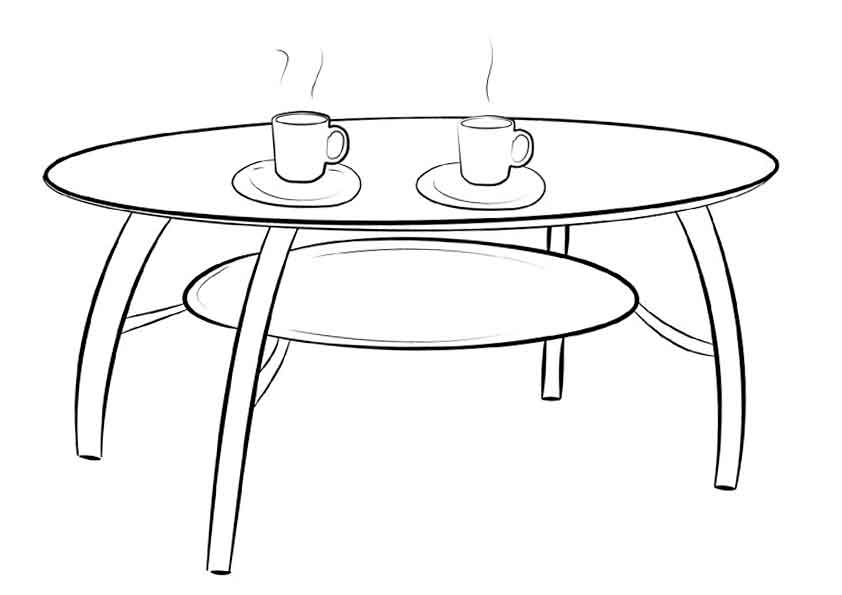 free coloring pages furniture - photo#41